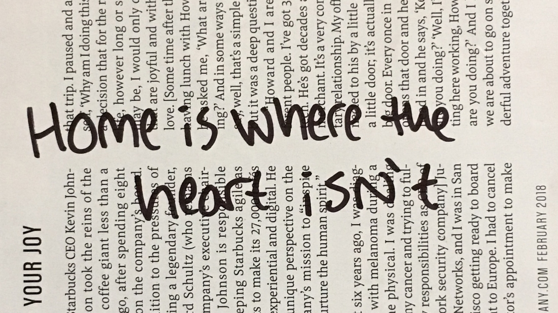Home is where the heart isn't
