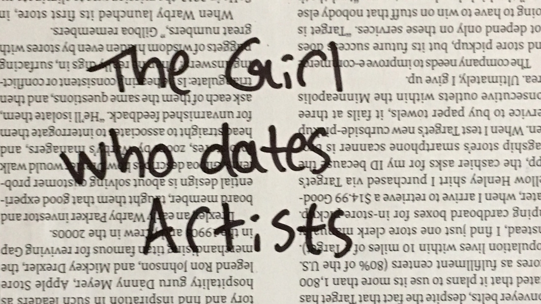 The girl who dates artists